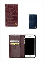 TORY BURCH★手帳型 PARKER EMBOSSED IPHONE 7 クロコ調