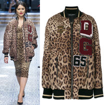 17-18AW DG1251 LOOK62 LEOPARD PRINT OVERSIZED BOMBER JACKET