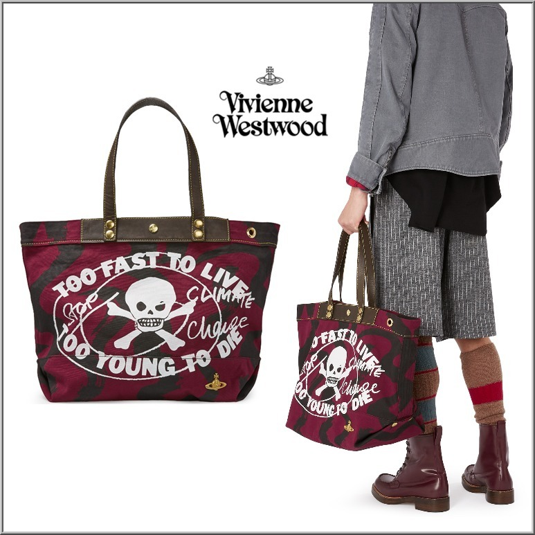 UK発☆Vivienne Westwood☆Too Fast To Live トートバッグ☆