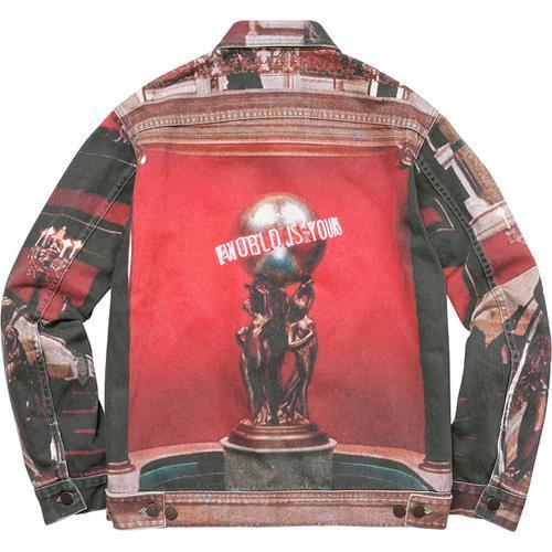 新作!17F/W Supreme Scarface The World Is Yours Denim Jacket
