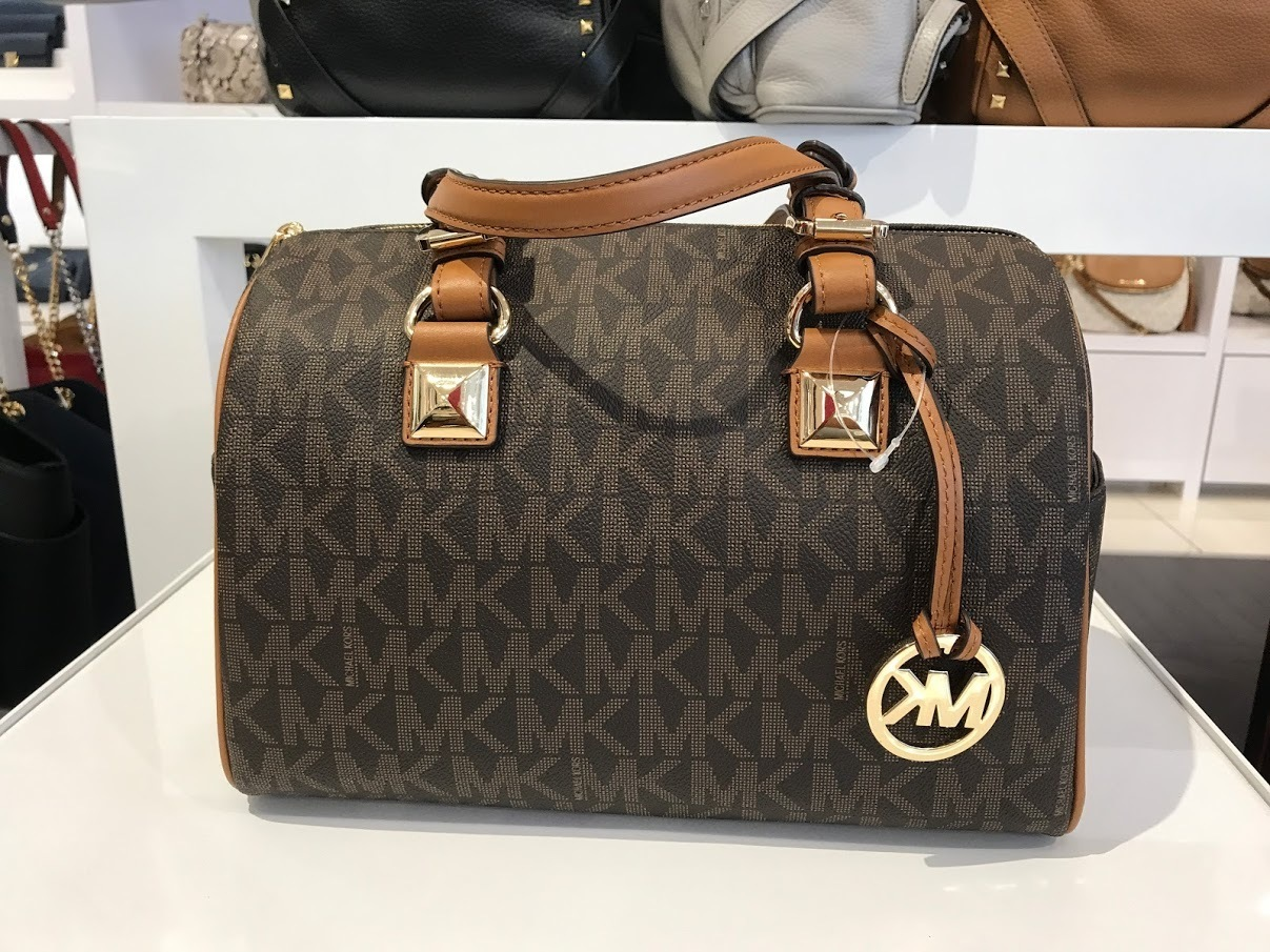 Michael Kors★8月作☆GRAYSON MD SATCHEL 2wayバッグ*ロゴ入り