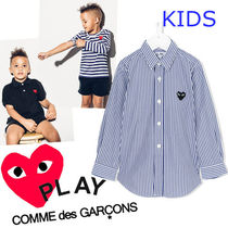 COMME des GARCONS(コムデギャルソン) キッズ用トップス ● COMME des GARCONS PLAY ● キッズ ストライプシャツ 即発