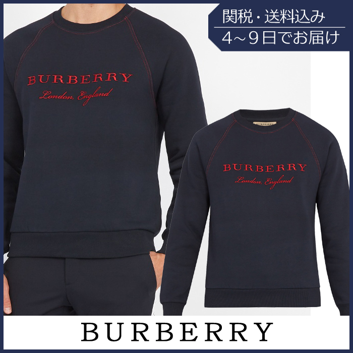 【VIPセール】Burberry★Taydon cotton-jersey トレーナー
