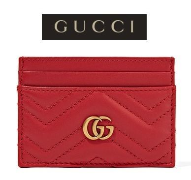 ★関税負担★GUCCI★GG MARMONT QUILTED LEATHER CARDHOLDER
