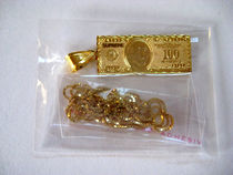 新作!17Supreme 100 Dollar Bill Gold Pendantネックレス