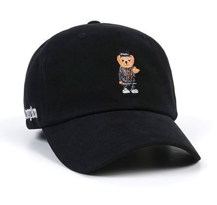 STIGMAのユニセックスCOMPTON BEAR OXFORD BASEBALL CAP 全4色