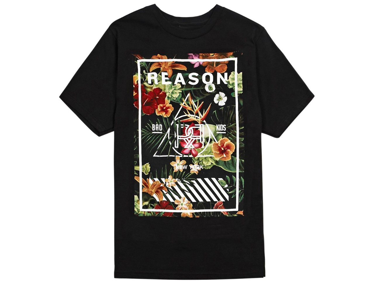 REASON  Hana Floral Box T-Shirts Black S~L Fedex対応