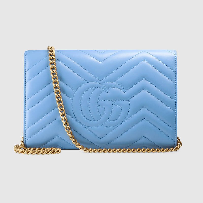 GUCCI★GG Marmont matelasse mini bag★ライトブルー