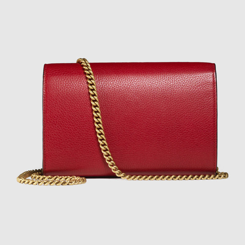 GUCCI★GG Marmont leather chain wallet★2色