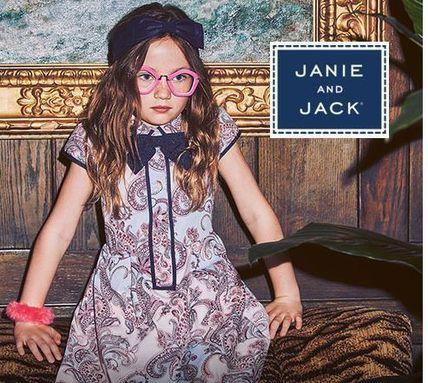 【Janie and Jack】ペイズリー柄ドレス ワンピース6m~12歳