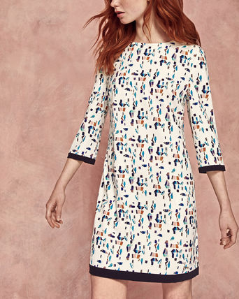 AW17-18★TED BAKER★プリントシフトワンピース LIMINA
