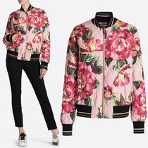 17-18AW DG1267 FLORAL PRINTED BOMBER JACKET