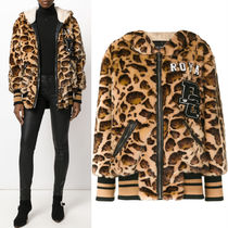 17-18AW DG1268 LEOPARD PRINT HOODED JACKET WITH APPLIQUE