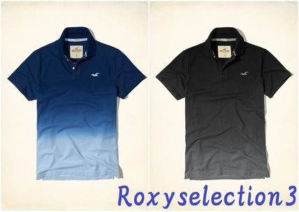【Hollister】Stretch Pique Ombre Polo 半袖ポロシャツ