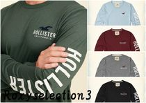 【Hollister】Logo Graphic Tee 長袖Tシャツ 袖ロゴ!