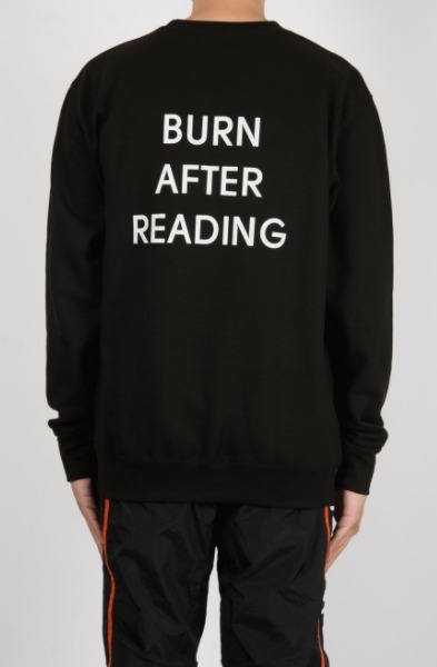 【PLACES+FACES】BURN AFTER READINGスウェット【送関込】