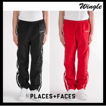 17SS【PLACES+FACES】ロゴトラックパンツ【送関込】