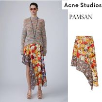 ACNE Pamsan floral mix Silk skirt フローラル軽シルクスカート