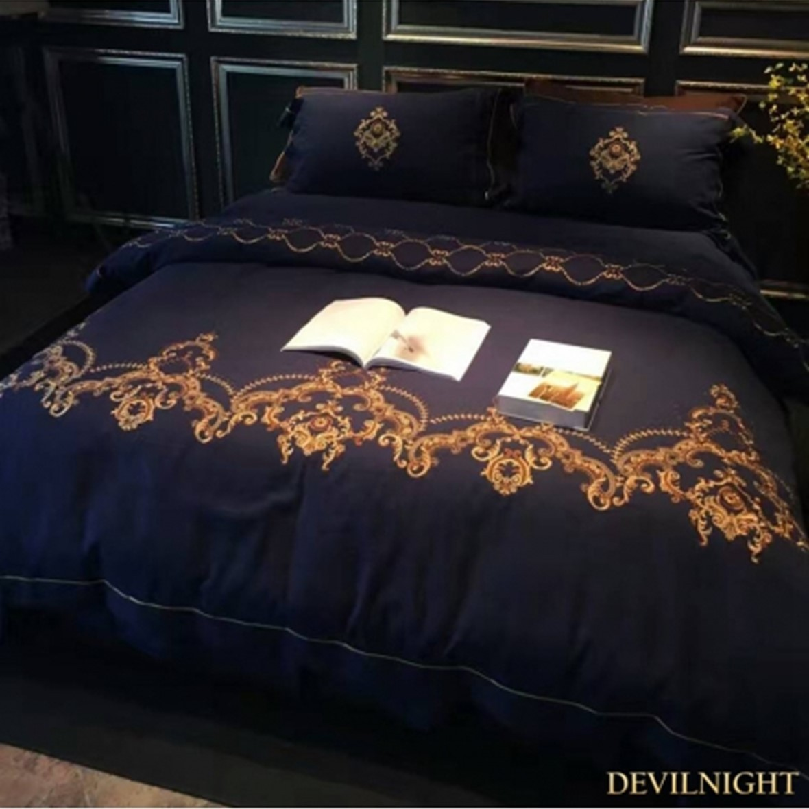 ◆DevilNight◆BLUE GOTHIC VINTAGE PALACE EMBROIDERY - 6p