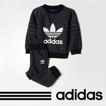 アディダス 正規品/Infants French Terry Crew Sweat Set BK5749