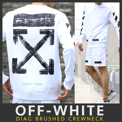【VIP】関税込 Off-White◆17-18AW◆DIAG BRUSHED スウェット