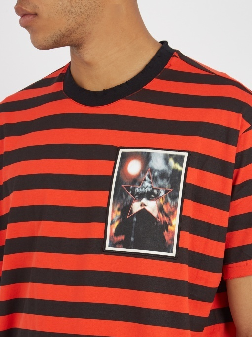【17AW】GIVENCHY/Portrait Print Columbian FitコットンTシャツ