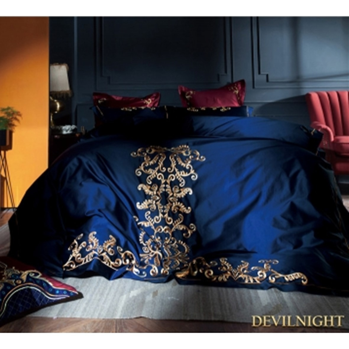 ◆DevilNight◆BLUE GOTHIC VINTAGE PALACE EMBROIDERY 5 - 4p