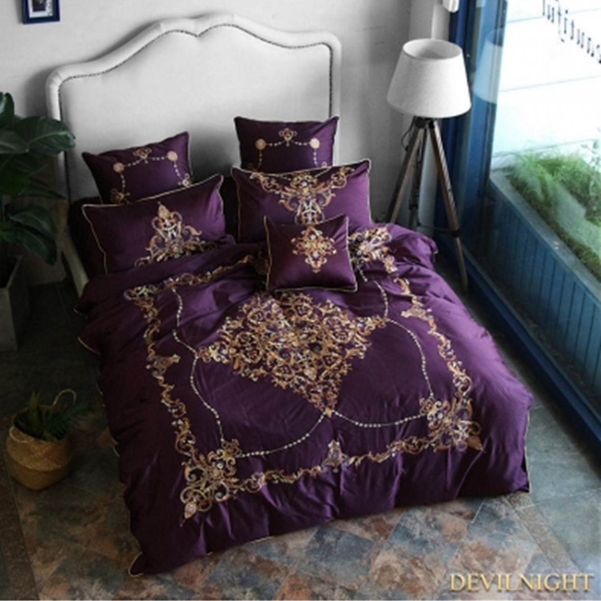 ◆DevilNight◆PURPLE GOTHIC VINTAGE PALACE EMBROIDERY 2 - 6p