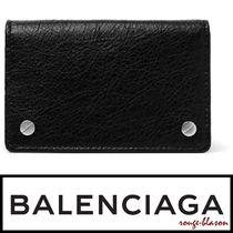 【国内発送】Balenciaga Arena Creased-Leather Cardholder