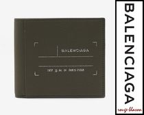【国内発送】Balenciaga Khaki Grain Leather Billfold Wallet