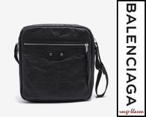 【国内発送】Balenciaga  Black Arena Leather Reporter Bag