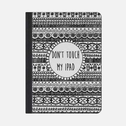 Casetify iPad・タブレットケース ★Casetify★iPadケース*DON'T TOUCH MY IPAD (BLACK LACE