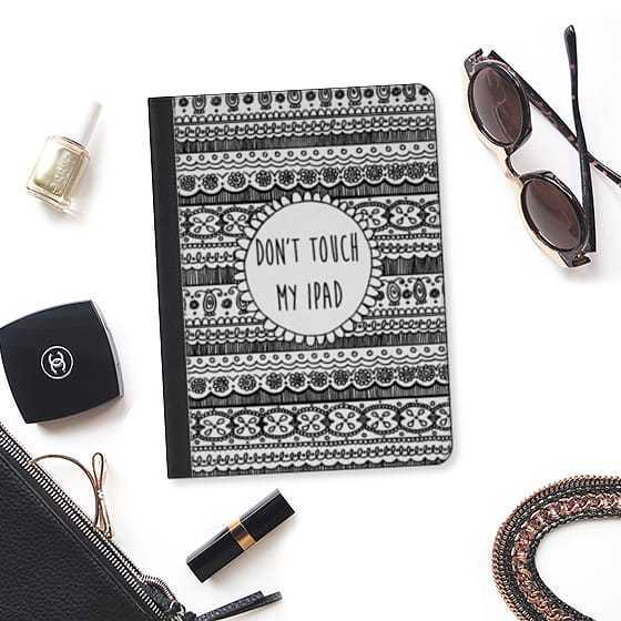 ★Casetify★iPadケース*DON'T TOUCH MY IPAD (BLACK LACE