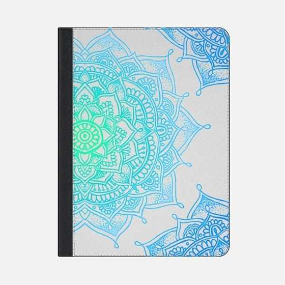 ★Casetify★iPadケース*MANDALA LACE DESIGN #3 (AQUAMARINE