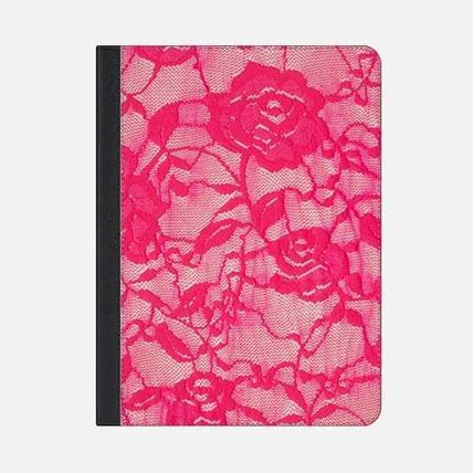 Casetify iPad・タブレットケース ★Casetify★iPadケース*HOT PINK ROSES FLOWERS LACE