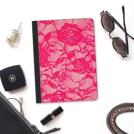 Casetify iPad・タブレットケース ★Casetify★iPadケース*HOT PINK ROSES FLOWERS LACE(2)