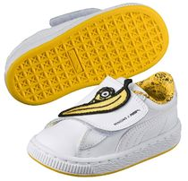 PUMA(プーマ) キッズスニーカー PUMA X MINIONS★ベビーキッズBasket Wrap Statement Leather★