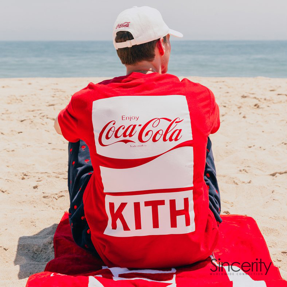KITH COCA-COLA THE REAL THING TEE / RED / MEDIUM