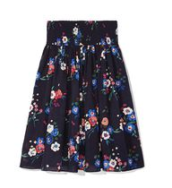【Tory Burch】シルク混カラフルパンジー柄★BLAIRE SKIRT