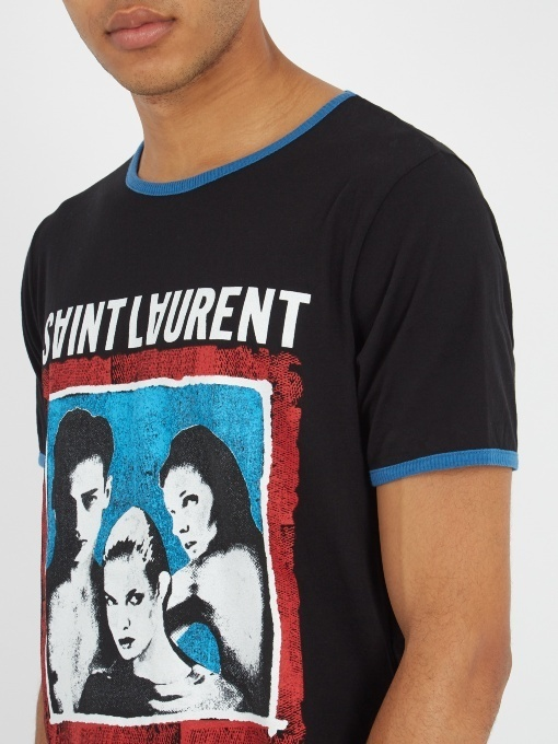 17-18AW【送関込】Saint Laurent☆TO THE MOON AND BACK Tシャツ