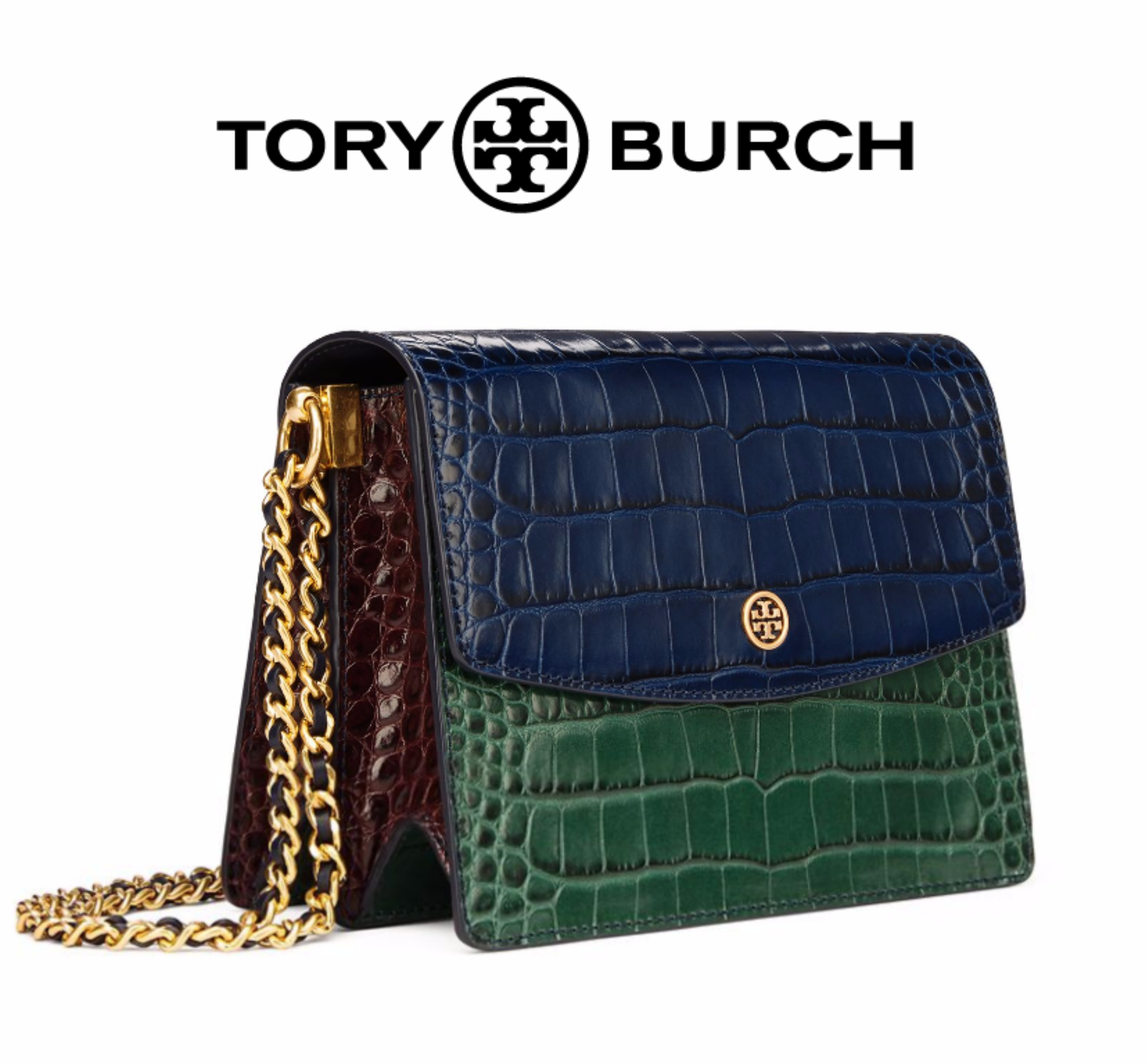 Tory Burch◆クロコ型押し◆クロスボディバッグ◆Parker◆追跡便