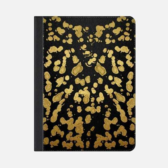 ★Casetify★iPadケース#PAINT SPLATTER ON BLACK- GOLD