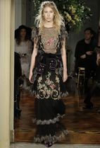 ALBERTA FERRETTI(アルベルタフェレッティ) ワンピース 17-18AW AF026 LOOK19 EMBROIDERED SILK TULLE PALACE GOWN