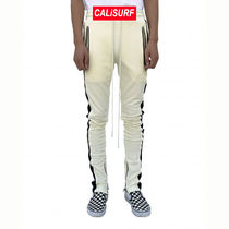 36/ URKOOL(ユーアークール)DOUBLE STRIPED TRACK PANT -white