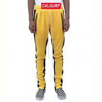 38/ URKOOL(ユーアークール)DOUBLE STRIPED TRACK PANT -yellow