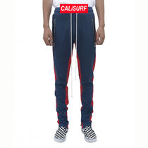 34/ URKOOL(ユーアークール)DOUBLE STRIPED TRACK PANT -navy