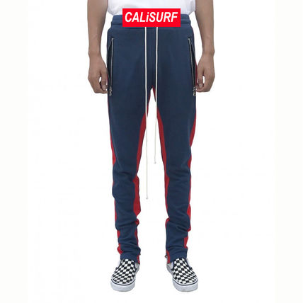 36/ URKOOL(ユーアークール)DOUBLE STRIPED TRACK PANT -navy