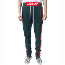 30/ URKOOL(ユーアークール)DARK GREEN TRACK PANT - RED PANEL
