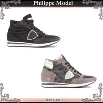 PHILIPPE MODEL□Cute Black レザー Lakers スニーカー