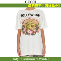 2017AW,関税込★GUCCI(グッチ) LEOPARD AND RAYS Tシャツ